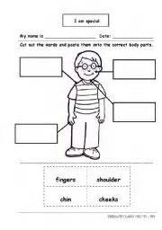 english worksheet i am special body parts