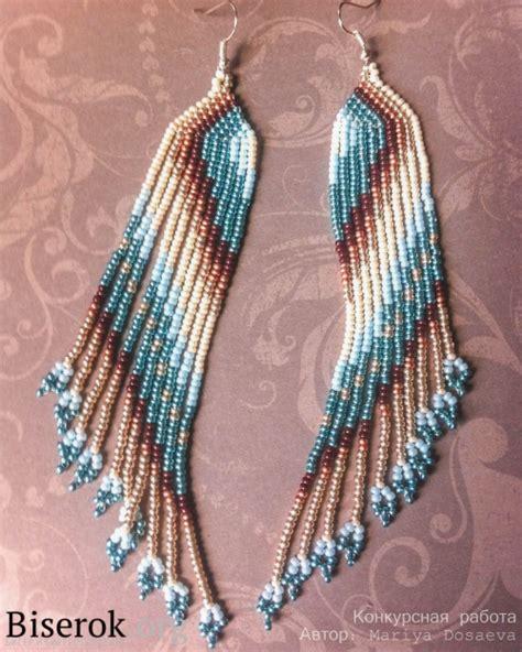 how to make american beaded earrings diagonally patterned american style beaded earrings
