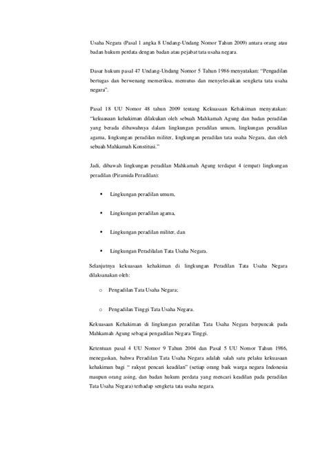 Hukum Penyelesaian Sengketa Lingkungan Diperadilan Tata Usaha analisis penyelesaian sengketa dalam peradilan tata usaha negara berd