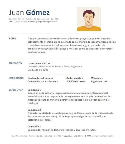 Modelo De Curriculum Vitae Experiencia Ni Estudios c 243 mo hacer una hoja de vida exitosa