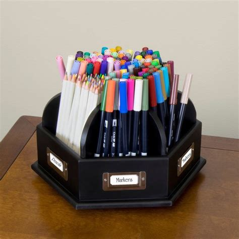 lazy susan desk organizer wood desktop organizer craft storage caddy desk pens