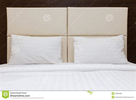 Pillow Headboard Bedroom Set Bedroom With White Pillow And Leather Headboard Stock Photo Image 46984986