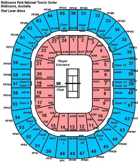 rod laver arena floor plan australian open 2018 definitive seating guide