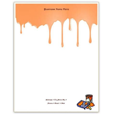 paint templates six free letterhead templates for microsoft word business