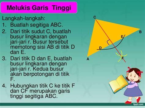 Segitiga Garis melukis segitiga dan garis garis istimewa