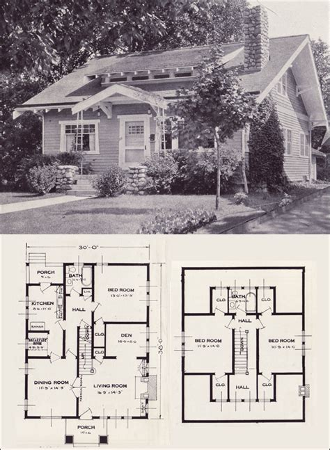 1920s home plans the gladstone 1923 standard homes company house plans