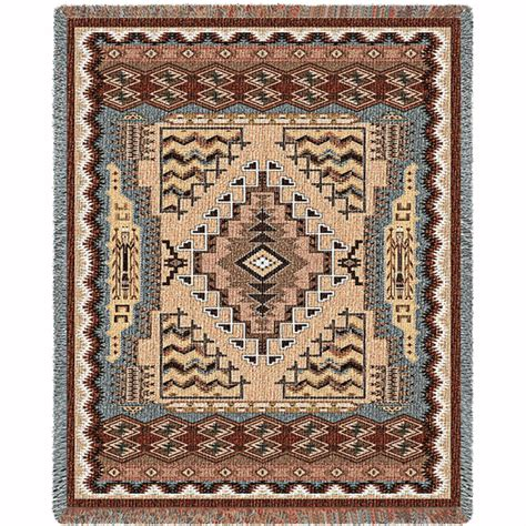 Southwest Rugs And Blankets by Southwest Butte Clay Blanket