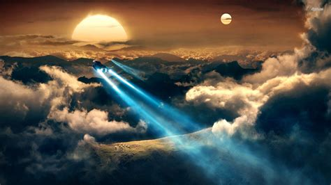 24093 aircraft above clouds 1920x1080 fantasy