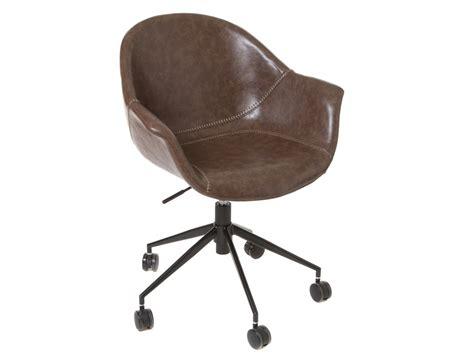 ruedas sillas de oficina silla oficina vintage marr 243 n tapizada en polipiel con ruedas