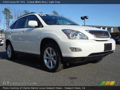 white lexus 2009 white mica 2009 lexus rx 350 light gray