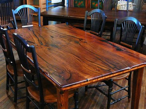 mesquite wood dining table this table is made from bookmatched mesquite this happens
