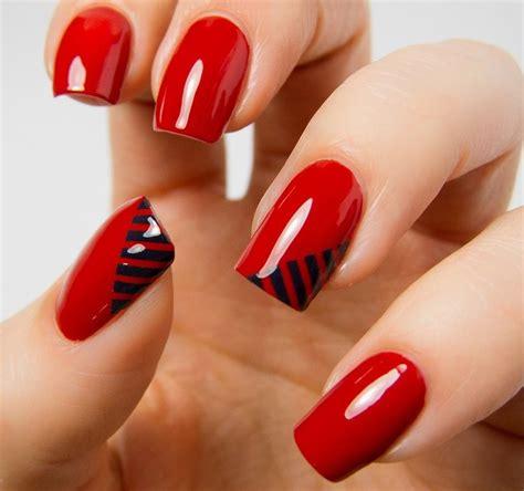 imagenes de uñas rojas y negras 20 u 241 as de color rojo que necesitas tener ahora mismo