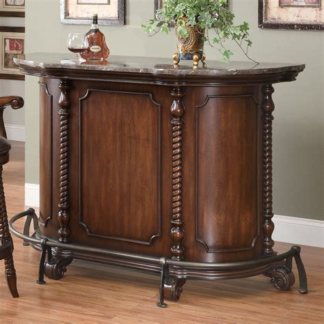 shop coaster furniture 60 in x 42 in oval cabinet bar
