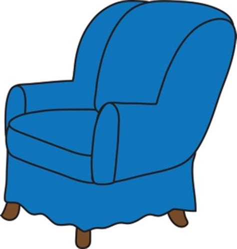 Clipart Armchair by Arm Chair Clipart Image Clip Illustration Of A Blue Arm Chair