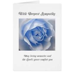 blue religious sympathy card zazzle