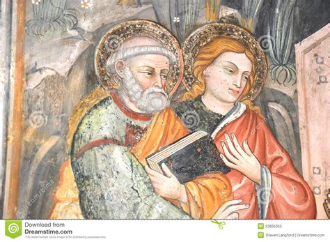 Mba Leadership And Change St Scholastica by Fresco Of Benedict Stock Photo Image 53655352