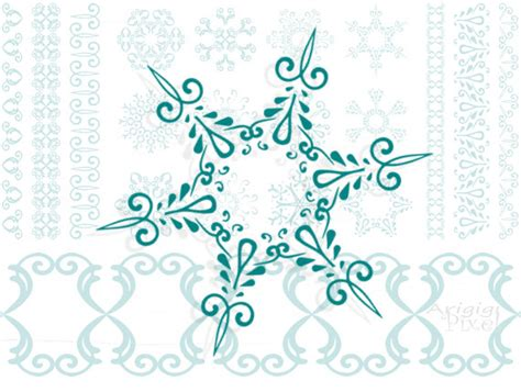 Snowflake Clipart Snow Pencil And In Color