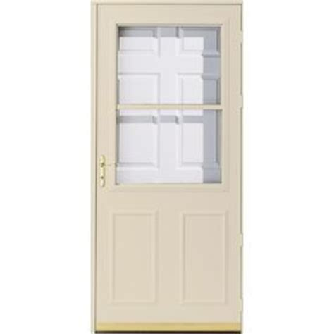 pella retractable screen door pella 36 in x 81 in poplar white olympia high view safety