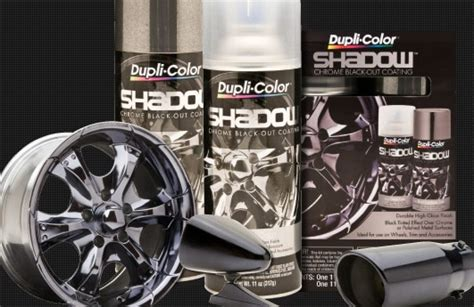 dupli color shadow kit de pintura en aerosol duplicolor shadow chrome black
