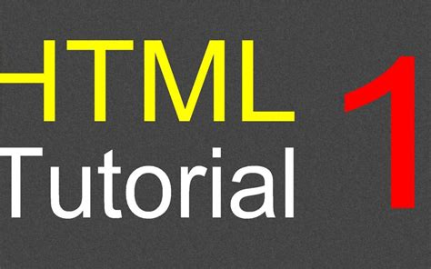 html tutorial to create a website html tutorial for beginners 01 creating the first web