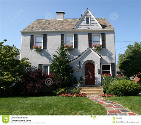 two story colonial two story colonial home stock photo image of lawn family