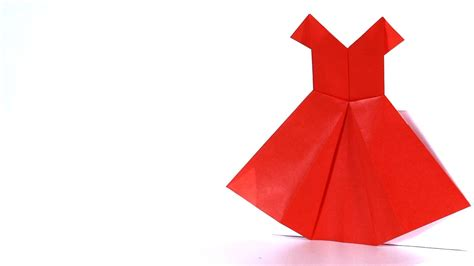 Paper Dress Origami - how to make a dress origami