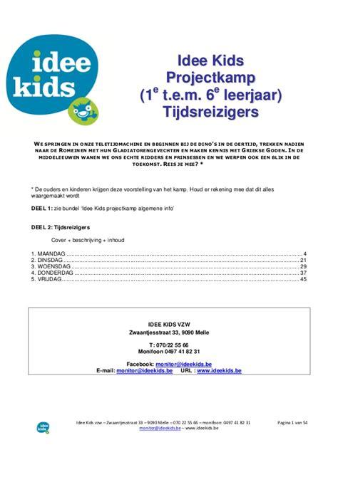 Minor Eventmanagement Draaiboek Bcc draaiboek tijdsreizigers projectk 2014