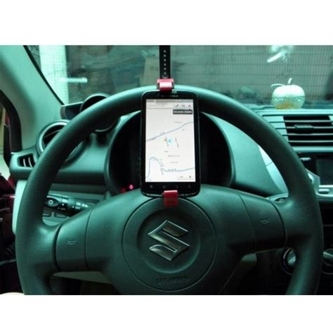 Car Steering Wheel Phone Holder Murah Bagus steering wheel phone holder drive smart travel smart black jakartanotebook