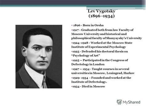 biography vygotsky lev semenovich images