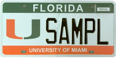 Driver License Office Miami by Specialty License Plate Of Miami