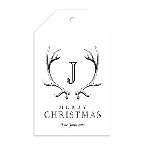 reindeer ranch gift tag reindeer personalized gift tag