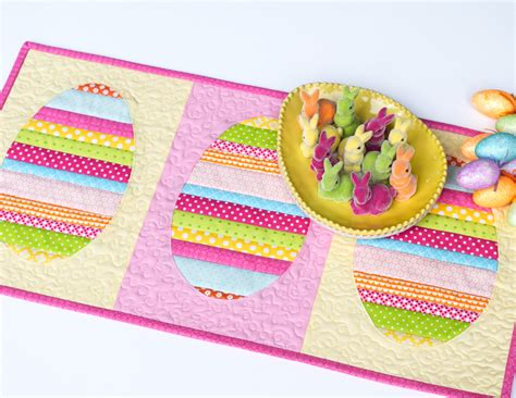 Quilted Easter Table Runner Pattern by Quilt Inspiration Free Pattern Day Easter And