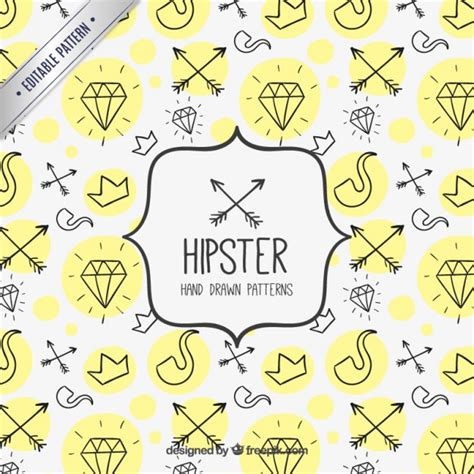 pattern hipster vector hipster hand drawn pattern vector free download