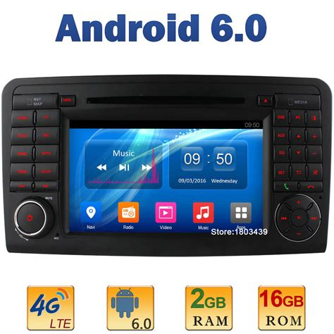 Android Ram 2gb 4g Lte 7 quot 2gb ram 4g lte sim wifi android 6 0 car dvd radio for mercedes ml class w164