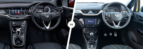 vauxhall astra vs corsa side by side comparison carwow