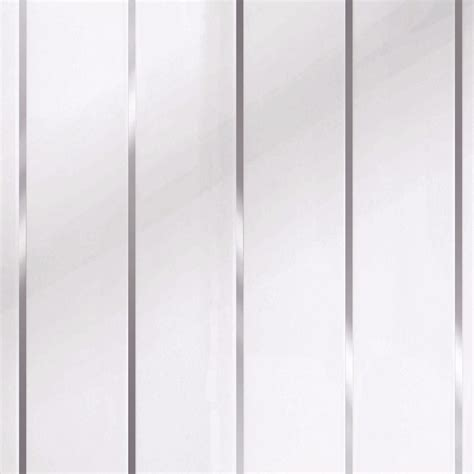 White Ceiling Panels by Proplas Decors White Silver Embedded Gloss Pvc Wall