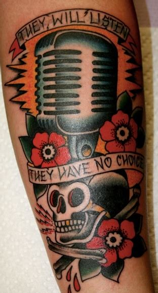 old school microphone tattoo designs school microphone traditionaltattoo