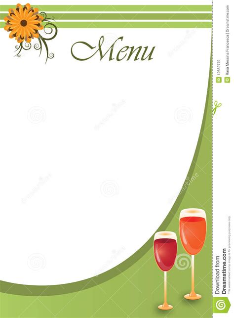 background menu template vector stock vector