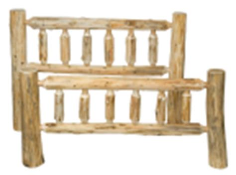 log headboard kits beds rustic furniture mall by timber creek