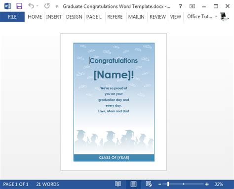 free graduation card templates free graduation congratulations card template for word
