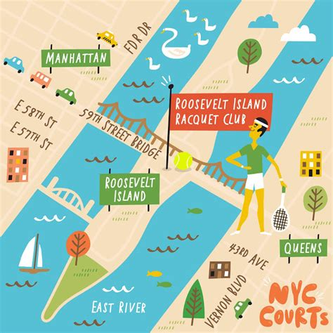 us open tennis map i draw maps illustrated map series of nyc tennis courts