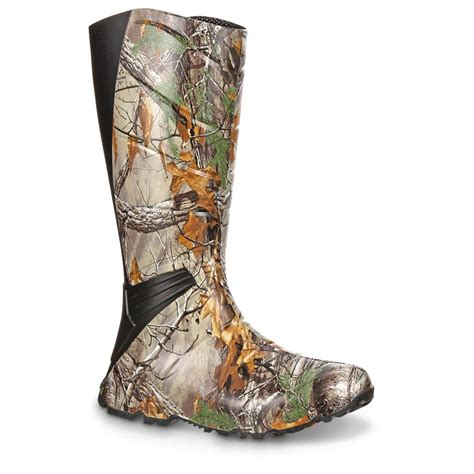 rubber boots hunting rocky 174 16 quot gamechanger hunting boots realtree xtra