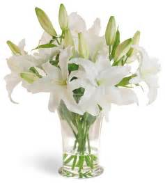 Imitation Flower - casablanca lily white flower arrangement traditional
