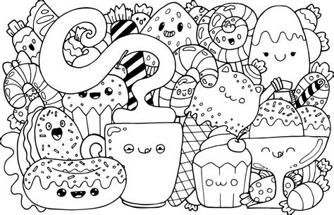 comida kawaii para colorear comida kawaii dibujos e imagenes de comidas kawaii para