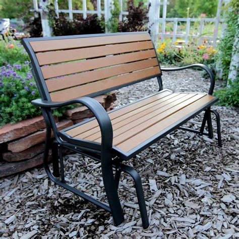 lifetime glider bench lifetime 60055 glider bench 4 feet faux wood vip outlet