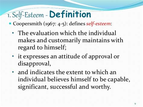 selves meaning affective domain