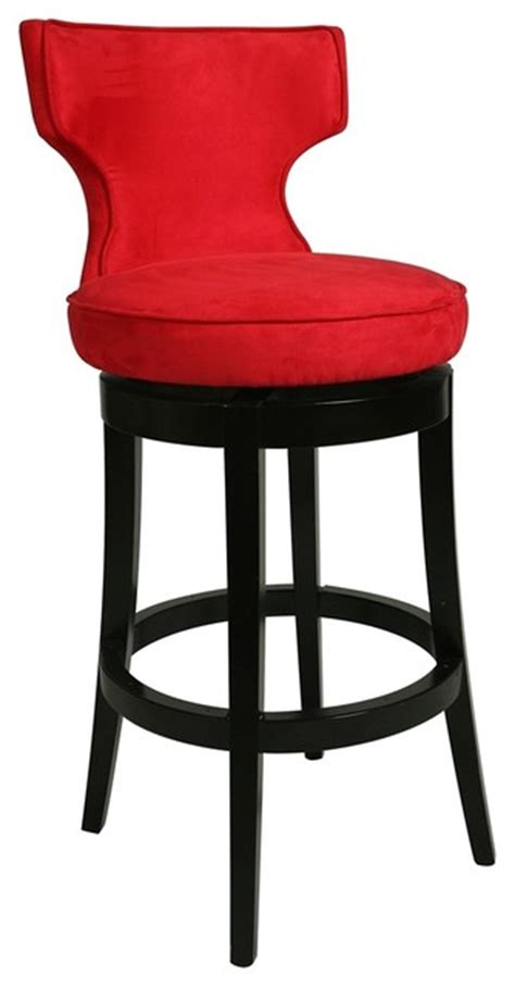 Bar Stools For High Counter | contemporary pastel augusta red swivel 26 quot high counter