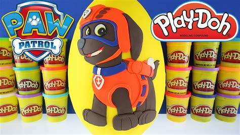 paw patrol lifeboat giant zuma surprise egg play doh nick jr paw patrol toys