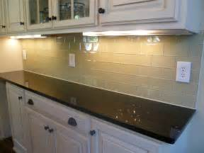 glass subway tile kitchen backsplash contemporary with white cabinets