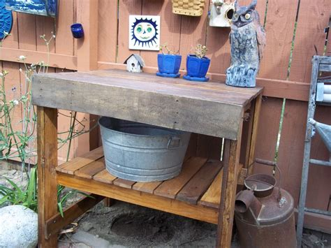 reclaimed wood potting bench potting bench reclaimed pallet wood finewoodworking